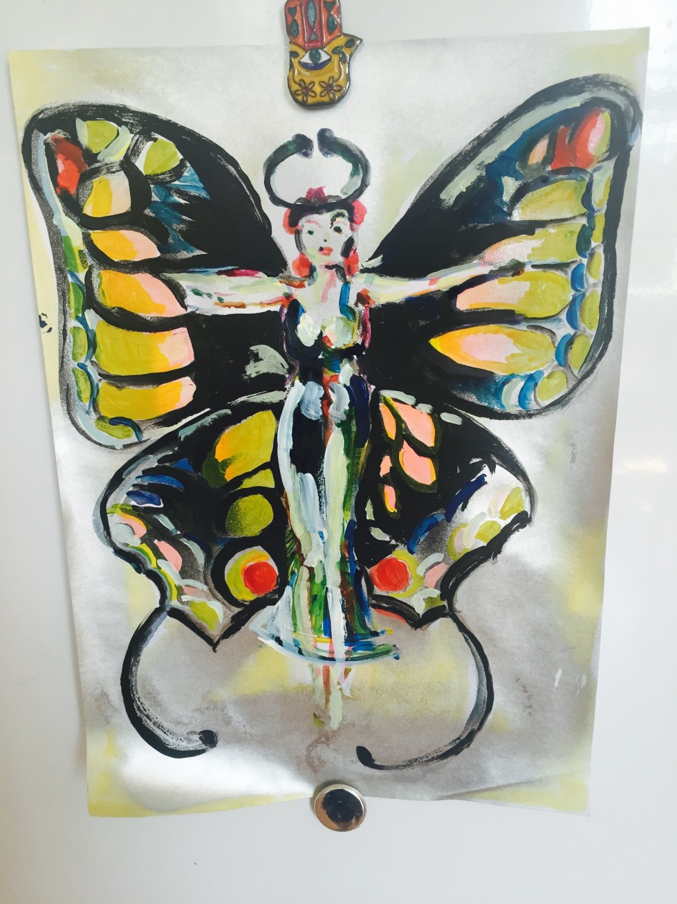 Butterfly lady in spring